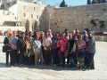 Pilgrims at the Western Wall.