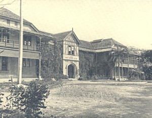 St. Peter's College – building opened in 1893; destroyed by fire in 1970.