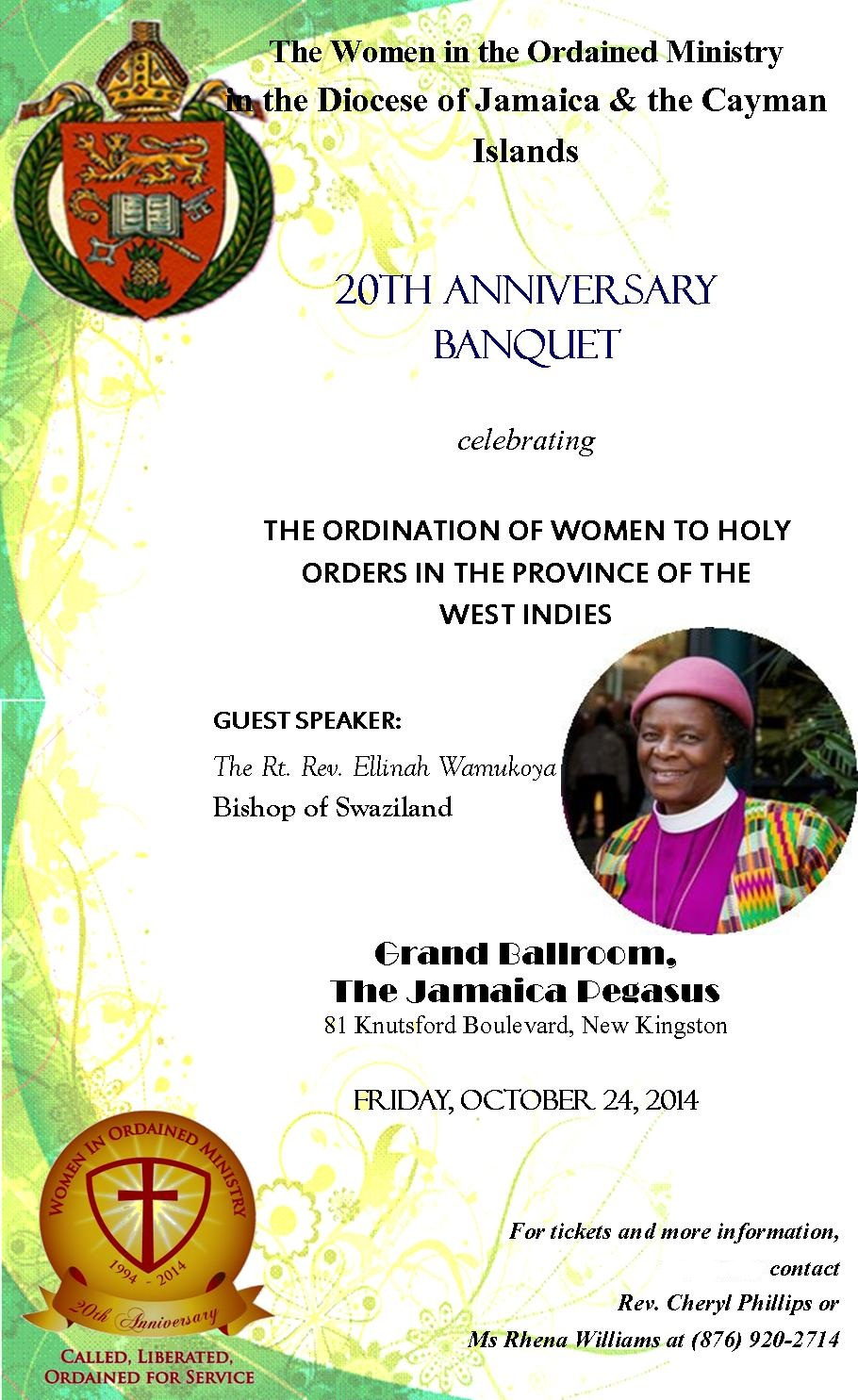 Women in Ordained Ministry 20th Anniversary – Banquet