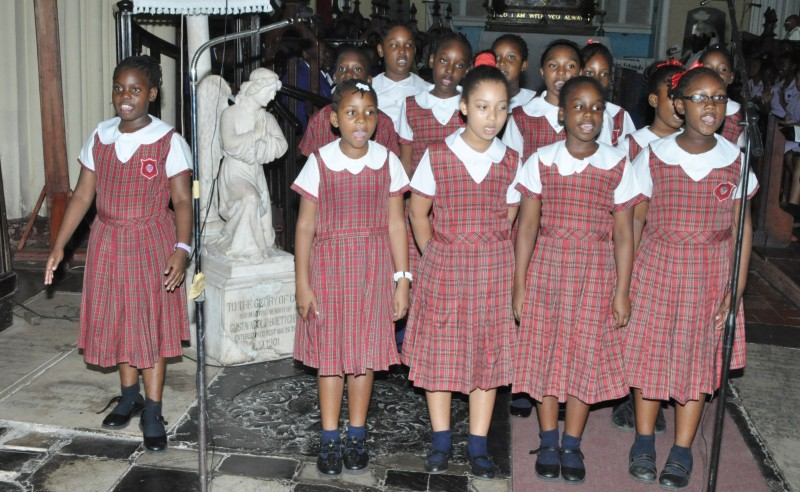 St. James Preparatory School, from Montego Bay, sang with all their heart