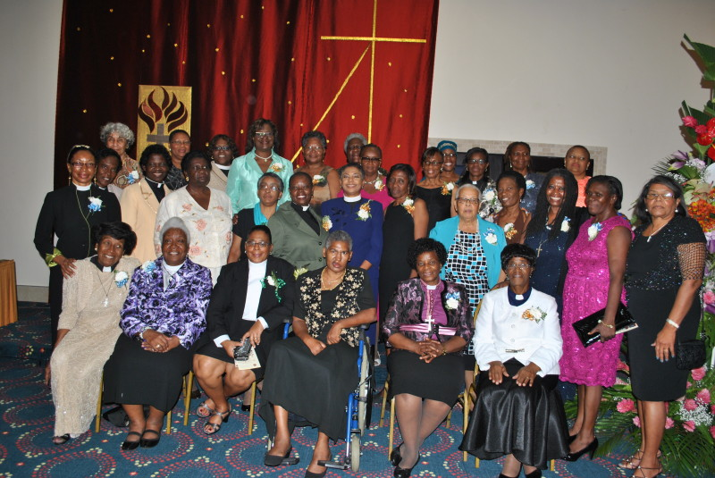 Bishop Ellinah (seated - second right) with ordained women in the Province of the West Indies