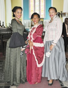 Tour Guides in period costumes for Cathedral Sunday