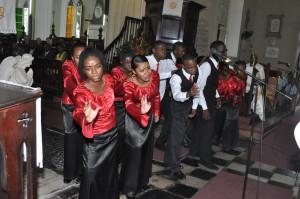 Glenmuir High School Choir sings during Evensong