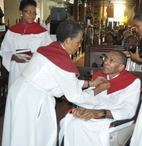 Sister Norma Thompson with Associate Evangelist, Clarence Hall of St. Mark's Church, Mandeville