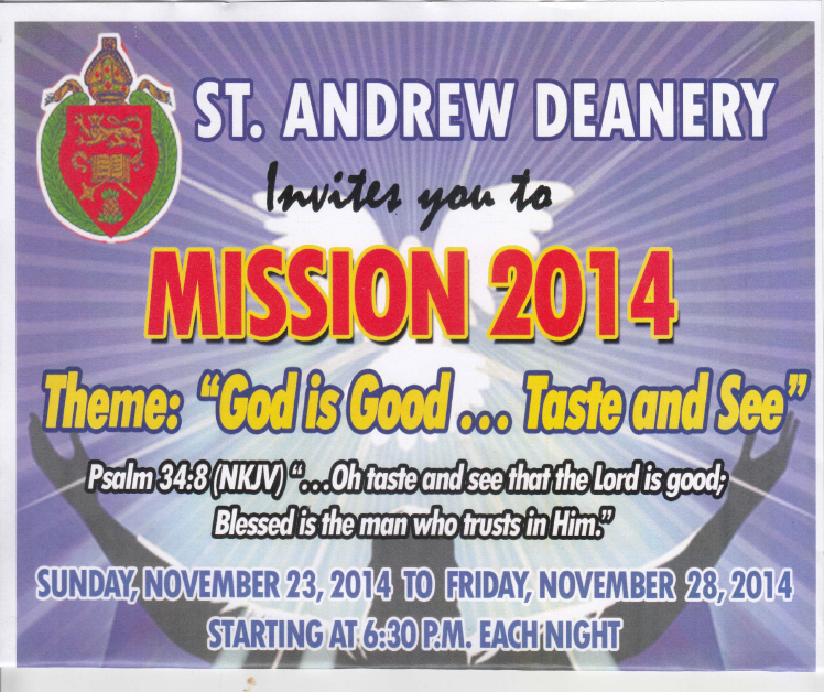 ST ANDREW DEANERY MISSION 2014