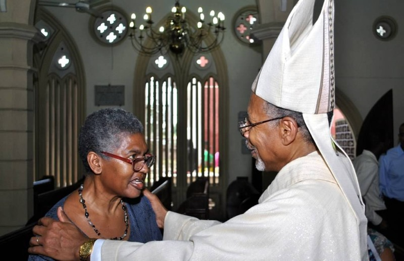 Archbishop Holder has a special message for the Rev. Vivette Jennings.