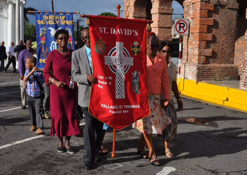 Representatives from St. David's, Yallahs, one of the oldest churches