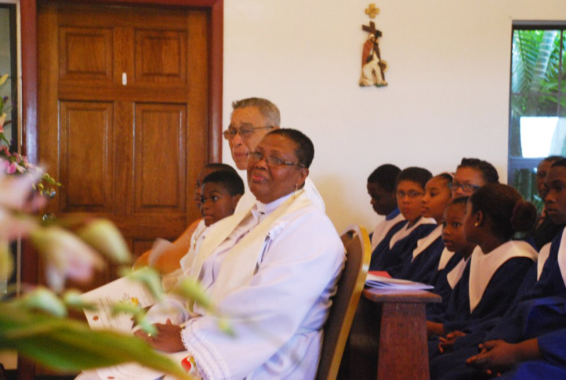 Rev. Graham listens attentively during the Sermon