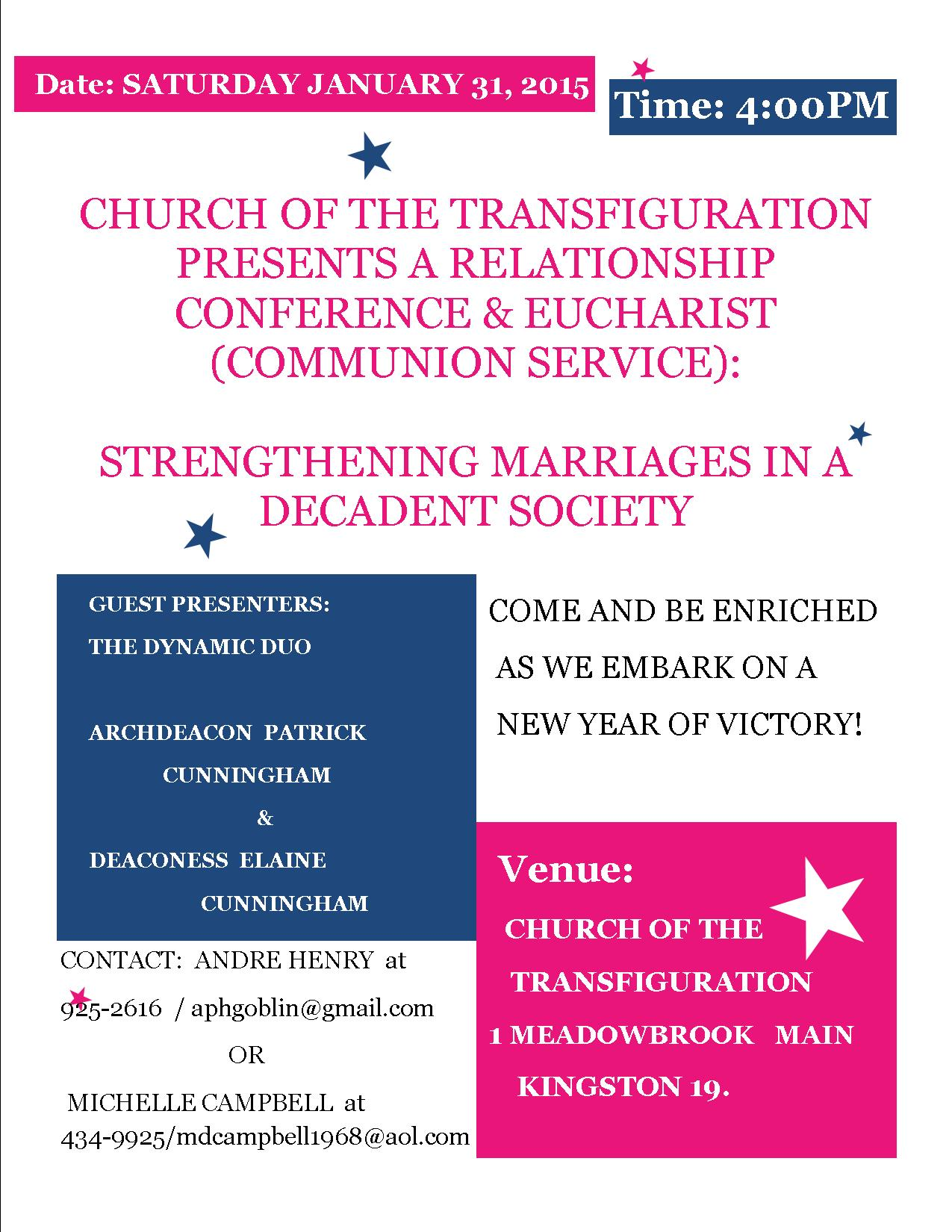 Relationship Conference & Eucharist