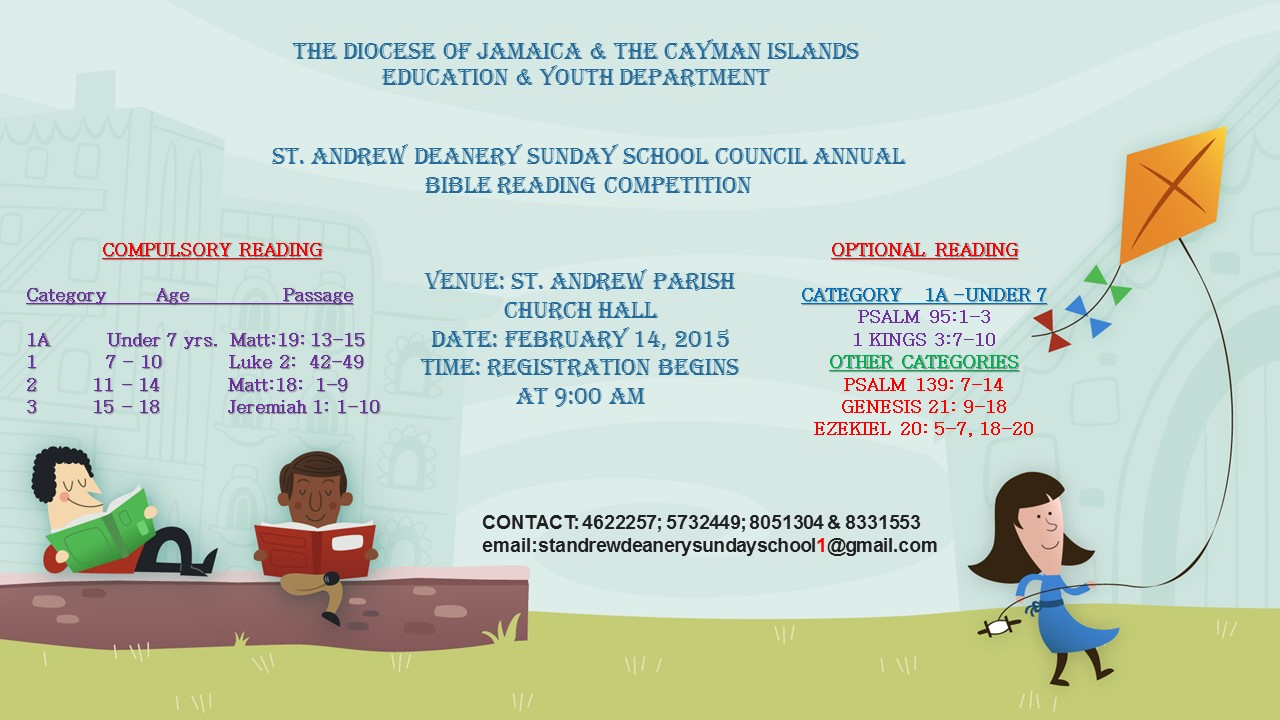 St. Andrew Deanery Sunday School Council  Annual Bible Reading Competition