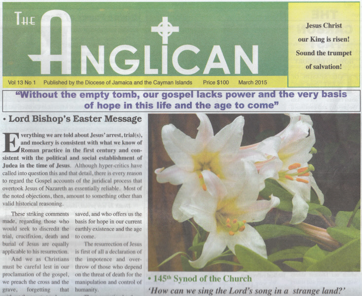 EASTER  ISSUE OF THE ANGLICAN IN CIRCULATION