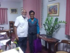 Mrs. Laceta Brown and Bishop Howard Gregory
