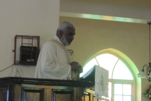 Bishop Robert Thompson delivering his Sermon