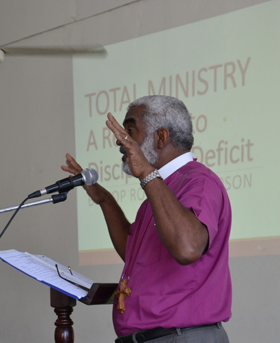 ATG Workshop.Bishop Thompson speaks