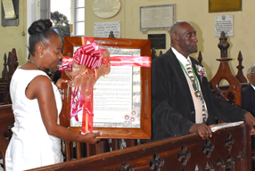 The Cathedral honours Trevor Beckford