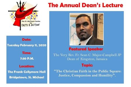 St. Michael's Centre for Faith & Action Annual Dean's Lecture