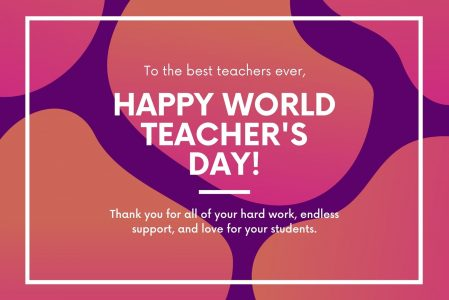 Message on World Teachers' Day