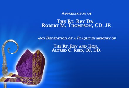 Recognition Service for Bishops Thompson and Reid